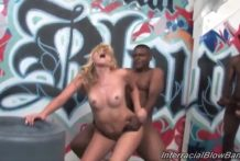 Blonde cums many times during gangbang